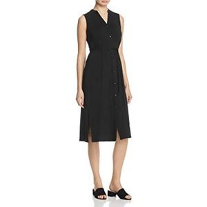 NWT Eileen Fisher Tencel Button Front Shirtdress